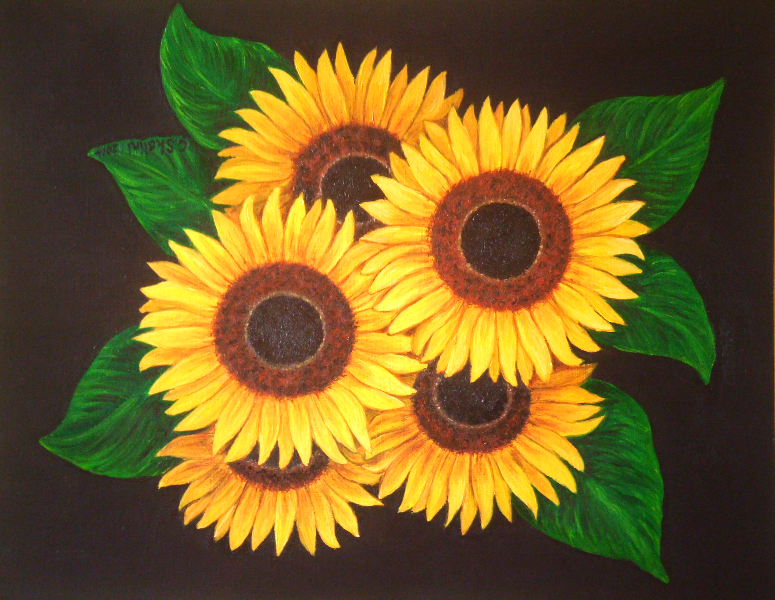 Sunflower commission 2 2014, oil, CS