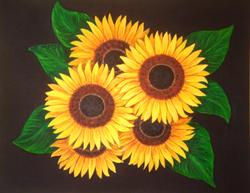 Sunflower commission 2 2014, oil, CS