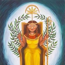 Seshat, goddess of writing, maths, astrology, measurement
