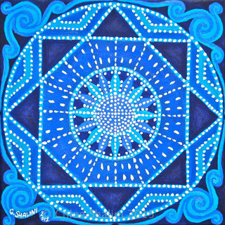 Moon and Stars Mandala 2012 Chloe Shalin