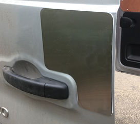 vauxhall vivaro stainless steel security plate