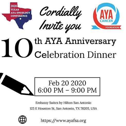 10th AYA Anniversary Celebration Dinner