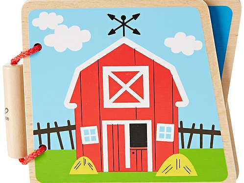 At The Farm (Wooden Book)