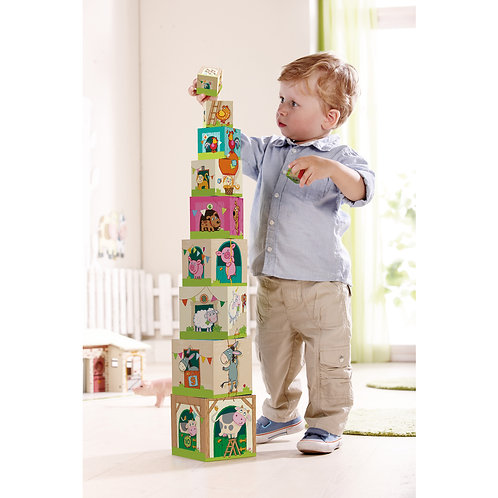 HABA Stacking Cubes on the Farm