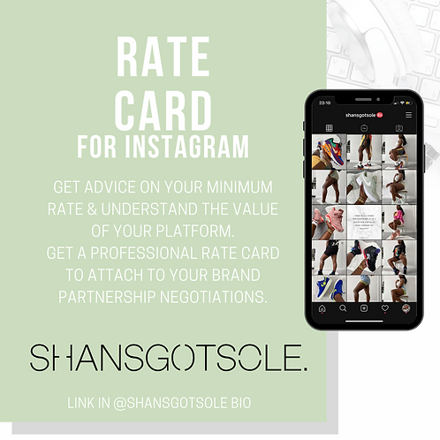 INSTAGRAM RATE CARD + FREE EMAIL BUNDLE