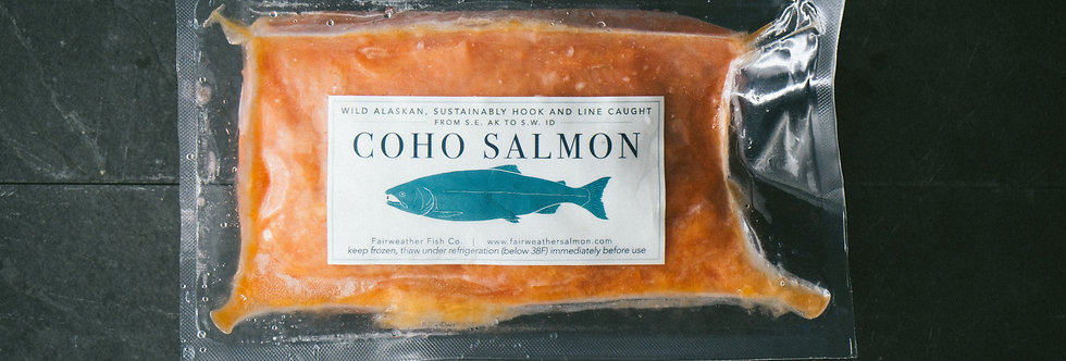 Coho Salmon Burger - Local Delivery