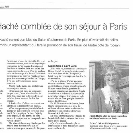 Nicole Haché à Paris