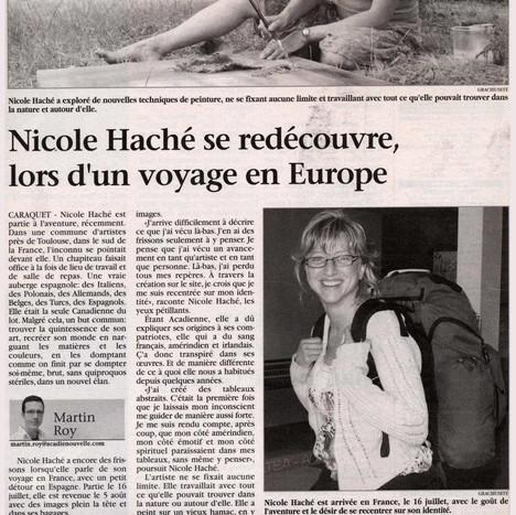 Nicole Haché en Europe