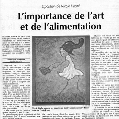 L'importance de l'art et de l'alimentation