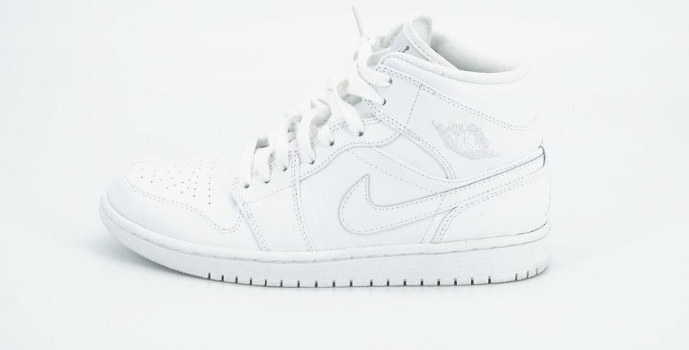Jordan 1 Mid White/Pure Platinum