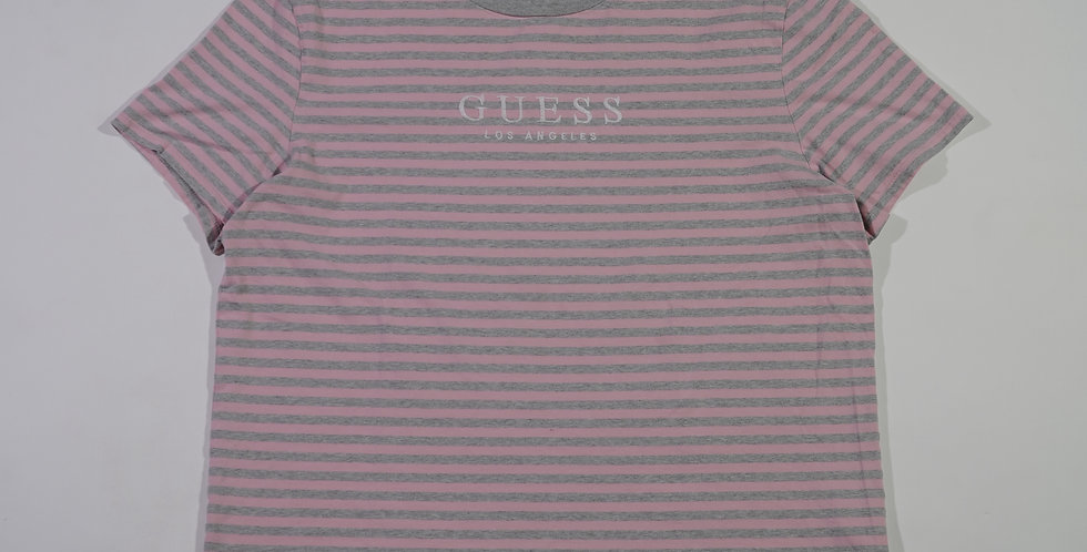 Guess Pink Striped Tee