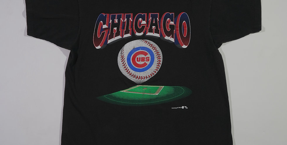 Chicago Cubs Field Print Nutmeg Tee