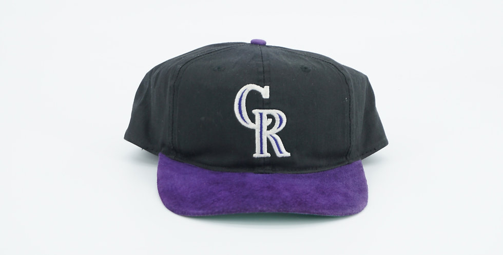 Colorado Rockies Suede Brim Hat