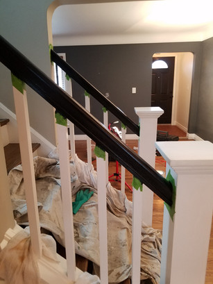 Stained Hand Rails