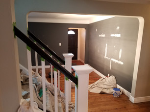 Hand Rails and Repaired Drywall