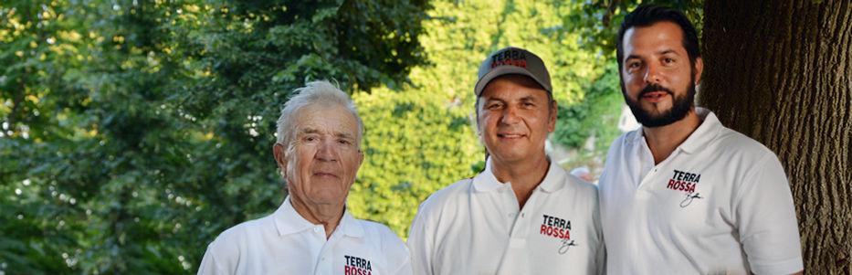 The TERRA ROSSA Producer Family Francesco Bellani - Stelio Bellani - Daniel Bellani