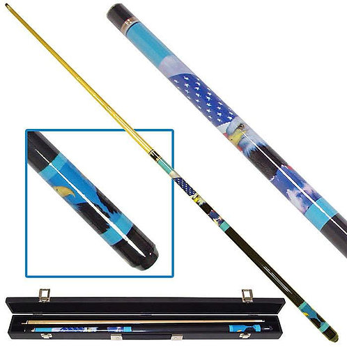 American Bald Eagle Billiard Pool Cue with Case