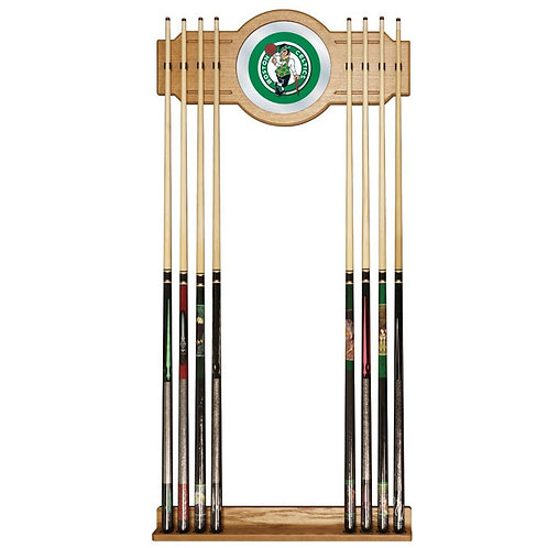 Boston Celtics NBA Billiard Cue Rack With Mirror