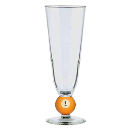12 ounce Pilsner Billiard Ball Glass No. 1 [r-1]