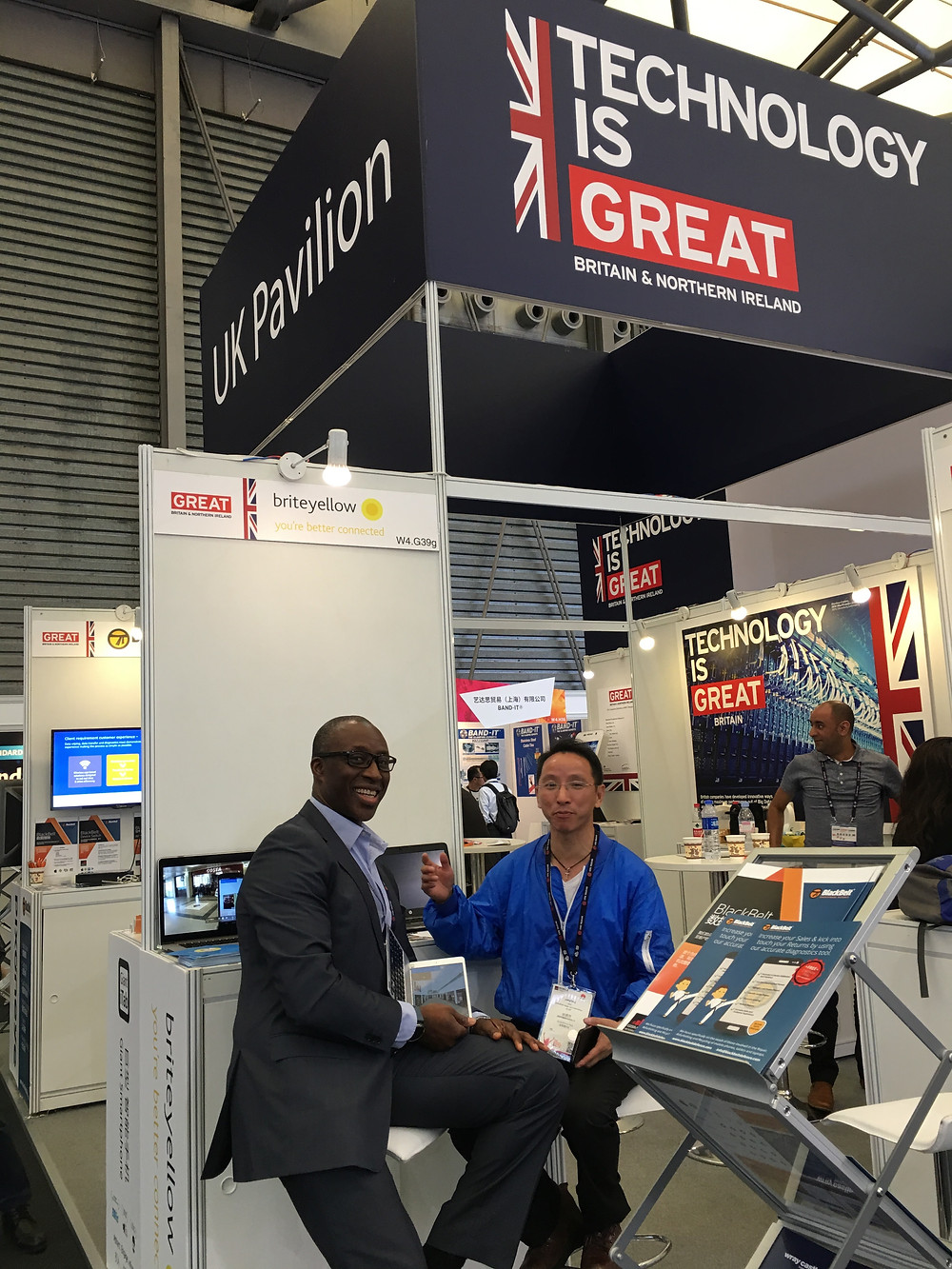 Briteyellow's stand at the Mobile World Congress in Shanghai