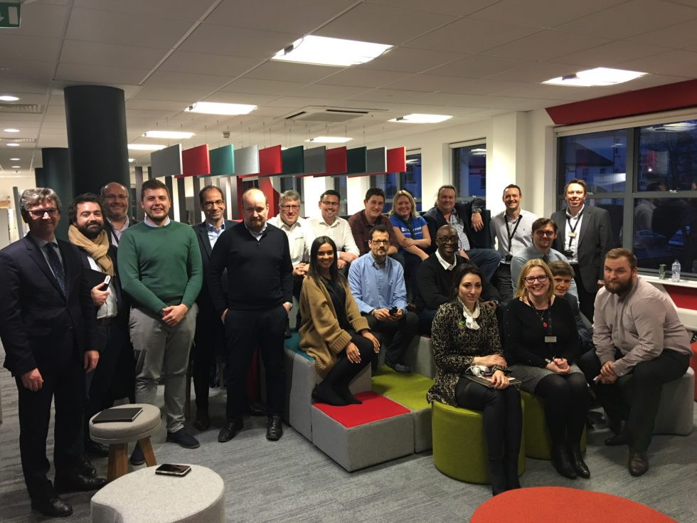 Participants in the first cohort of the Wales Lab gathered prior to the UK's coronavirus lockdown