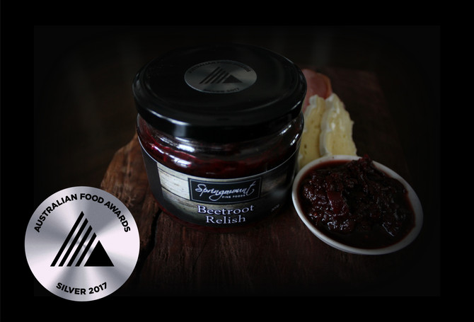 Beetroot Relish wins Silver Medal
