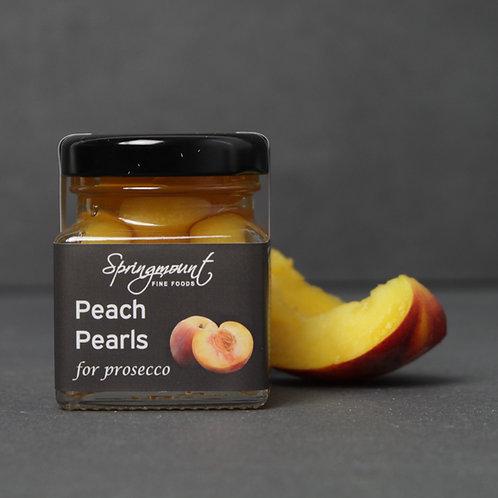 Peach Pearls for Prosecco