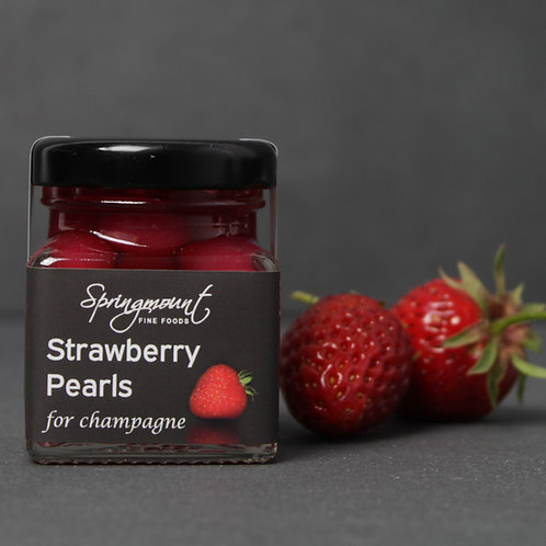 Strawberry Pearls for Champagne