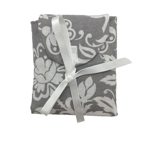 Tea Caddy - White Large Flowers