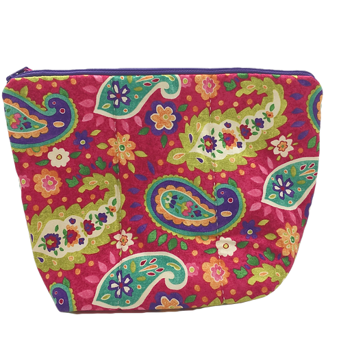 Zippered Bag (Large) - Floral Paisley
