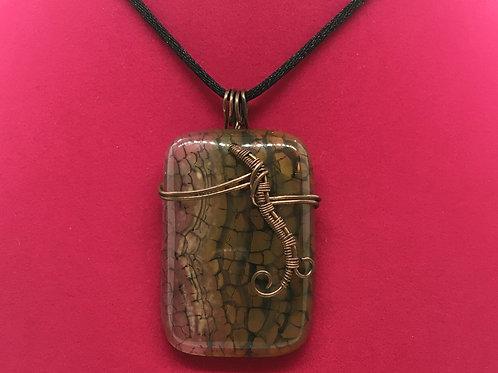Wire Wrapped Gemstone - Dragon Vein Agate