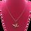 Thumbnail: Necklace - Origami Crane Pendant, Gold