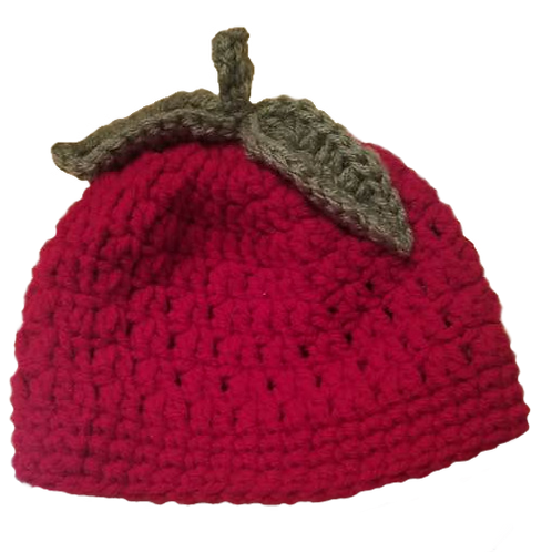 Child's Red Apple Hat