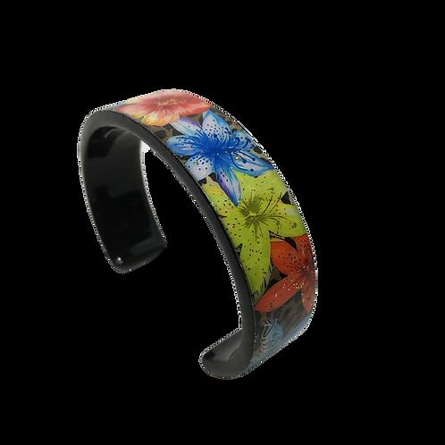 Nano Cuff Bracelet - Leopard Blue Glow