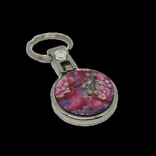 Keychain - Pink Dragonfly