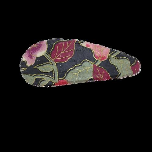 Origami Teardrop Hair Clip - Flower & Leaves