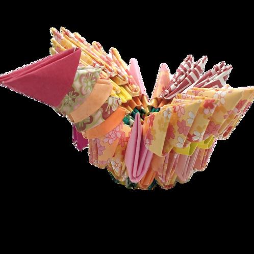 Origami Crane - Yellow & Pink