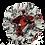 Thumbnail: Drawstring Pouch (Small) - Red, White & Black