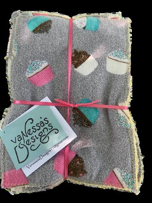Small Reusable Cloths Cupcakes