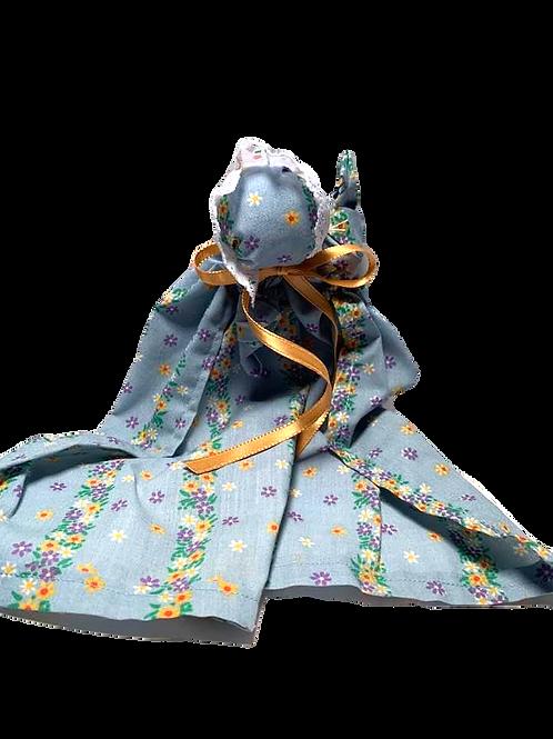 Church Doll - Blue Flower Print