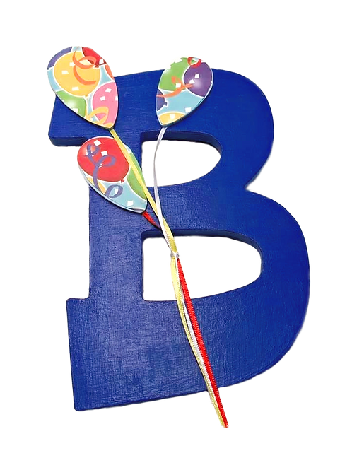"""""""B"""" is for Birthday Painted Wooden Letter"""