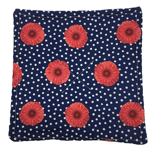Gripper - Polka Dots & Red Flowers