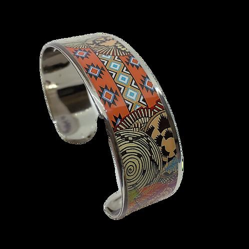 Silver Nano Cuff Bracelet - Southwestern