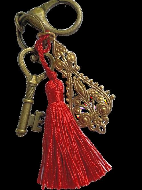 Red Tassel Key Chain