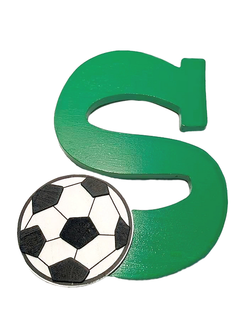 """S"" is for Soccer Painted Wooden Letter"