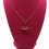 Thumbnail: Necklace - Origami Crane Pendant, Red with White Flower Design