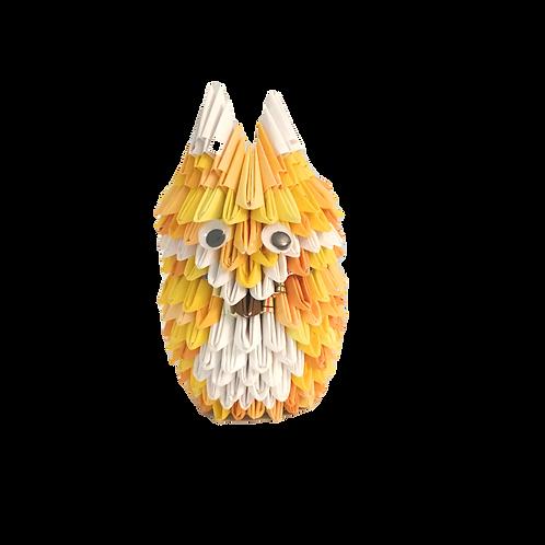 Origami Fox - Yellow Hues