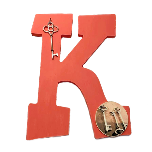 """""""K"""" is for Key Painted Wooden Letter"""