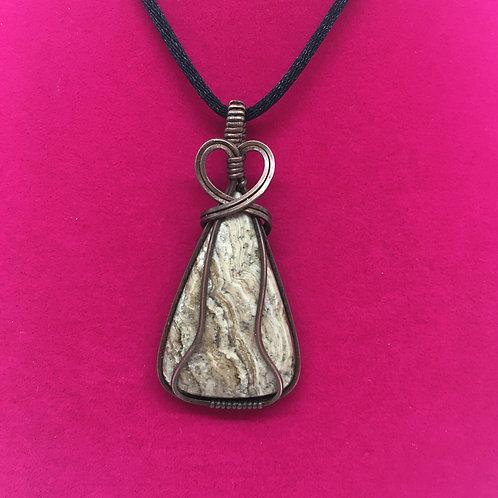 Wire Wrapped Gemstone - Argonite Jasper