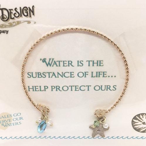 Sea Gems Gold-Tone Open Starfish Bracelet